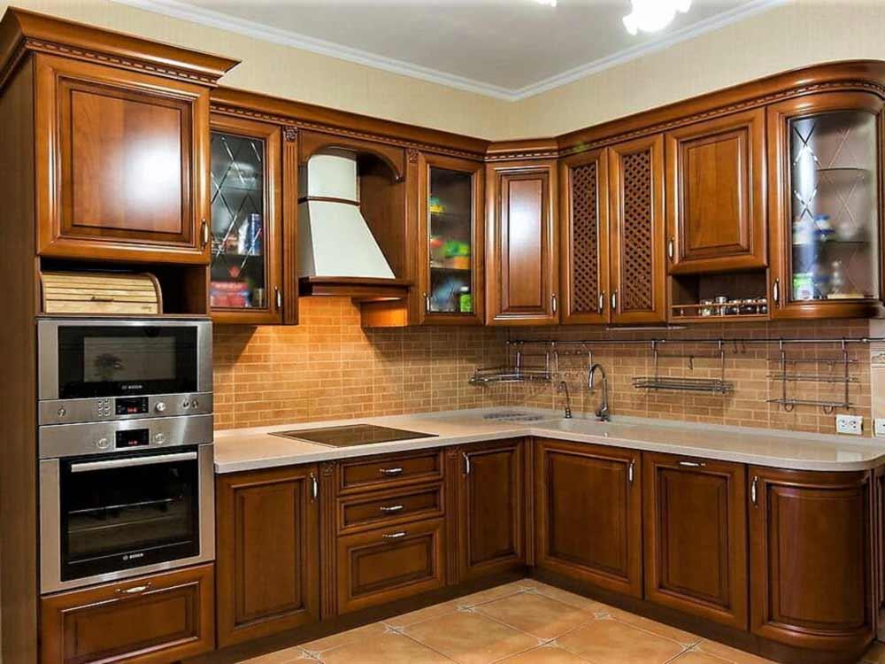 Кухни угловые массив классика фото видно, что